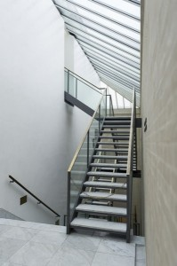 Modern stairs in a commercial building