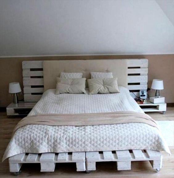 Vyrobte si postel z palet vlastnu00edmi silami : MOJE Bydlenu00ed